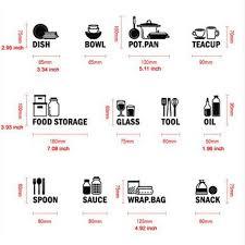 Modern Kitchen cabinet wall stickers vinyl waterproof cutlery labels
