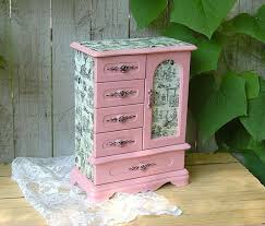 Shabby Chic Jewelry Armoire by 324 Best Jewelry Boxes Diy Images On Pinterest Decorative