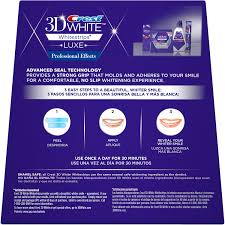 crest 3d white whitestrips with light review crest 3d white luxe whitestrips professional effects dental