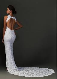 sheath wedding dress buy discount charming lace halter neckline sheath wedding dresses