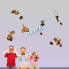 home decor wall stickers cartoon movie ice age 4 poster for baby