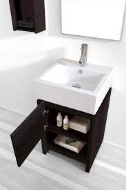 Wide Bathroom Cabinet by 20 Inch Gulia Vanity Space Saving Cabinet 20 Inch Wide Vanity