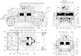 humvee clipart car blueprints hummer m242 bushmaster blueprints vector