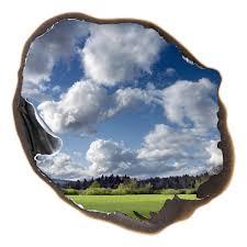 sticker trompe oeil sticker muraux trompe l u0027oeil sticker mural nuages dans le trou