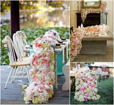 fresh flower table runner creative unique table runner ideas for your wedding