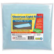 classroom light filters fluorescent light covers calming blue