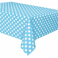 table covers for party plastic light blue polka dots table cover 108 x 54 walmart