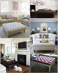 Coffee Table Tray Ideas Furniture Interesting Tufted Ottoman Coffee Table For Decorate