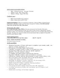 Diploma In Civil Engineering Resume Sample by Kpr Resume Tunnel Engineer