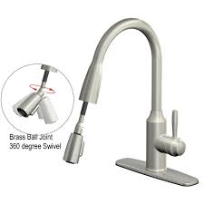 glacier bay fp4a4080ss invee 8 in pulldown kitchen faucet glacier bay fp4a4080ss invee 8 in pulldown kitchen faucet stainless steel touch on kitchen sink faucets amazon com