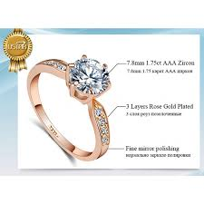 zircon wedding rings images 1 75ct aaa zircon engagement rings for women rose gold color jpeg