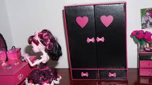 Monster High Doll House Furniture Como Fazer Guarda Roupa 2 Para Boneca Monster High Barbie E Etc