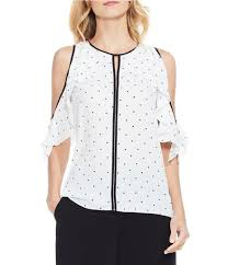 polkadot top vince camuto women s casual dressy tops blouses dillards