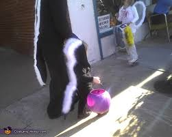 Infant Skunk Halloween Costume Baby Skunk Mommy Skunk Diy Halloween Costumes Photo 3 4