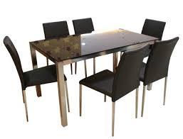 Dining Chair Foam Ya 068dt Modern Black Glass Dining Table Y 837ch Modern Pu Dining