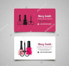 nail salon business card 9 free psd vector ai eps format