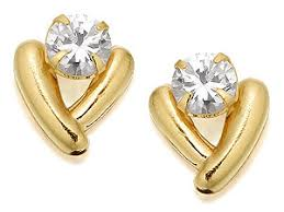 andralok earrings 9ct gold triangular andralok earrings these 6mm gold and
