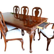 queen anne dining room furniture cherry american drew queen anne dining table and chairs ebth