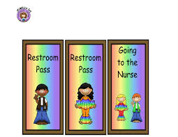 bathroom pass ideas pass clipart