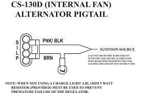 alternator wiring diagram external regulator gm typical and