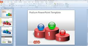 free podium powerpoint template free powerpoint templates