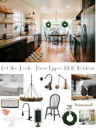 joanna gaines farmhouse kitchen with cabinets get the look fixer b b farmhouse kitchen house of