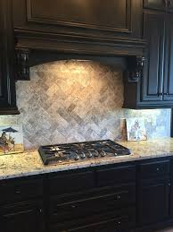 Brown Subway Travertine Backsplash Brown Cabinet by 23 Best Backsplash Images On Pinterest Cherry Kitchen Dark