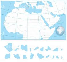 Africa Blank Map by Blank Outline Map Of Northern Africa And The Middle East Stock