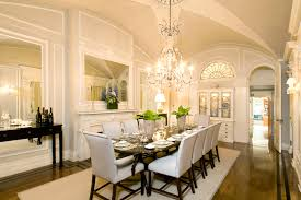 magnificent dining room with a 12 foot high cross rib vaulted