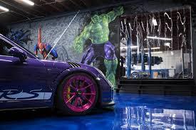 matte pink porsche ultraviolet purple porsche gt3 rs with pink advanced series wheels