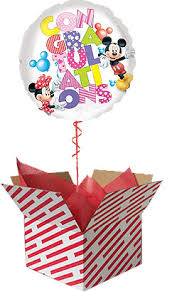 inflated balloon delivery congratulations mickey and minnie balloon gift sent inflated