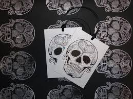 skull wrapping paper handmade wrapping paper sugar skull tattoo vickilicious designs