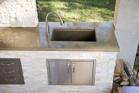 outdoor kitchen sinks ideas outdoor kitchen island with bbq grill and undermount sink sinks for