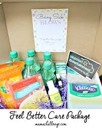 care package for a sick friend being sick blows get well care package printable