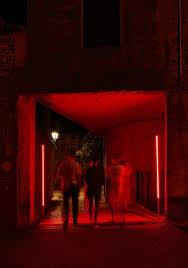 Red Lighting A Lighting Installation For Lago Film Fest Linea Light Group