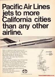 Piedmont Airlines Route Map by Vintage Route Map Of Piedmont Airlines Cross Country Service