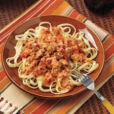 pork u0026 tomato pasta sauce recipe taste of home