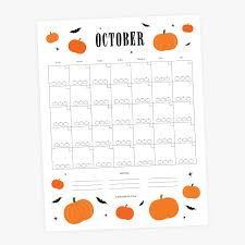 Printable Halloween Calendar October Printable Menu And Calendar National Association Of