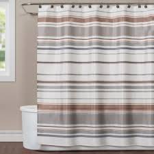 Neutral Shower Curtains Saturday Colorware Stripe 72 In Neutral Polyester Shower