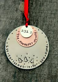 our first christmas ornament personalized family tree ornament