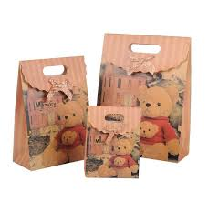 christmas paper bags teddy cordless gift bags exquisite paper gift bags fastening