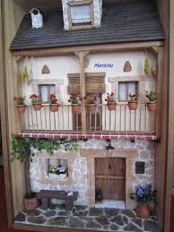 dollhouse miniature house diorama shadowbox art sculpture wall