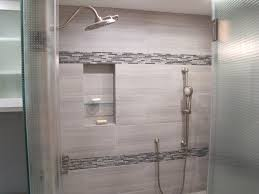 Bathroom Niche Ideas Perspective White Tiles On Shower Wall Decorative Lucente Linear