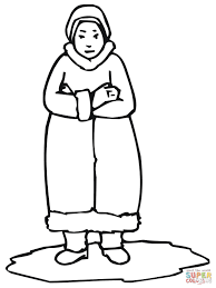 inuit woman coloring page free printable coloring pages
