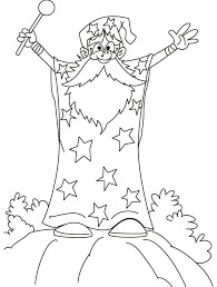 wizard coloring pages getcoloringpages