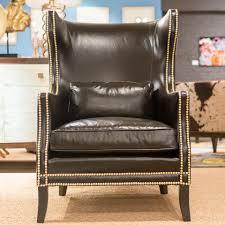Black Leather Armchair Kingston Leather Chair Bernhardt Interiors Luxe Home Philadelphia