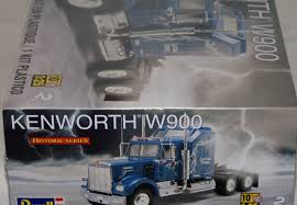 kenworth w900 model truck kenworth w900 semi truck plastic 1 25 scale truck model kit 1507