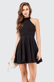 black skater dress black high neck skater dress black skater dress select fashion