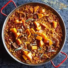 and butternut squash paella