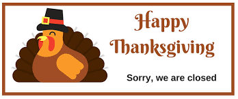 closed thanksgiving day signs free printable images 2017